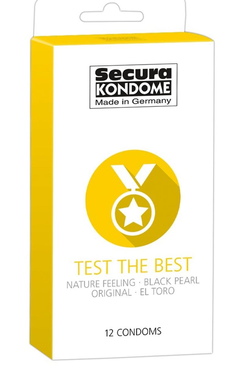 Image of Kondome TEST the BEST, Secura, 4 Sorten-24 Stk.