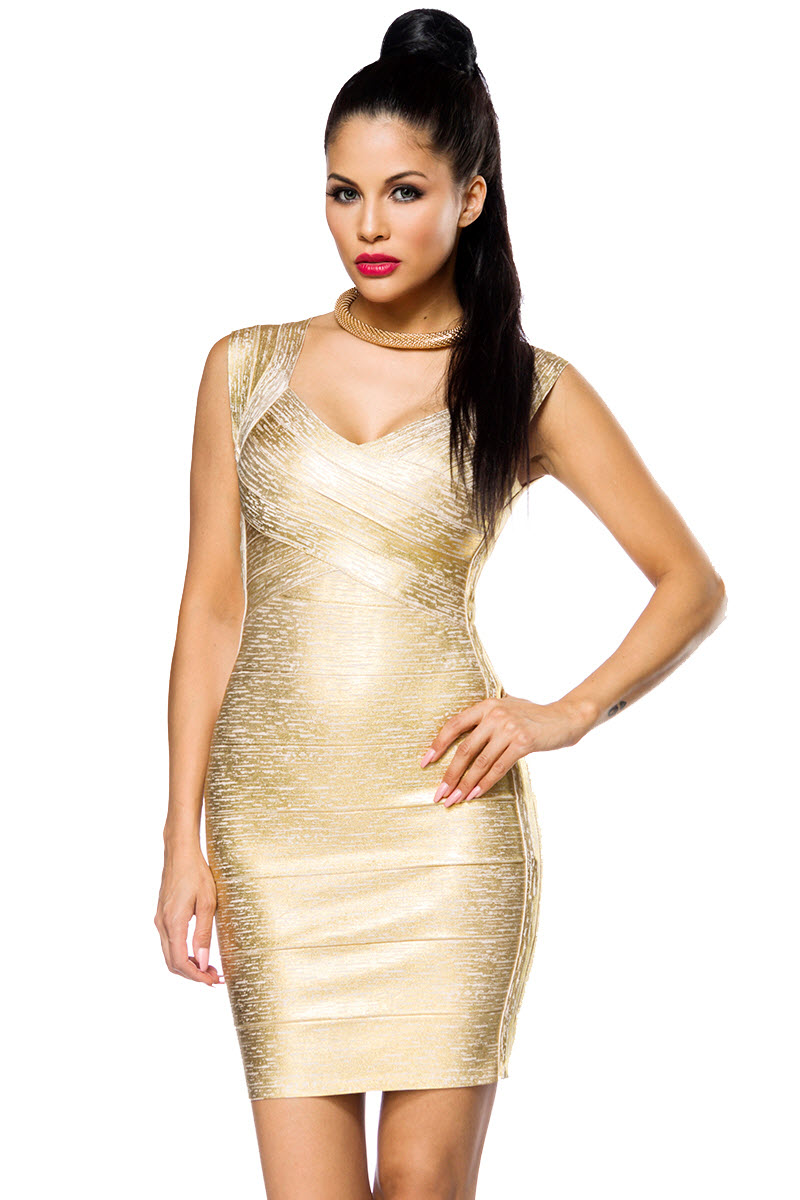 Image of Bandage-Shape-Kleid, 021, Gold