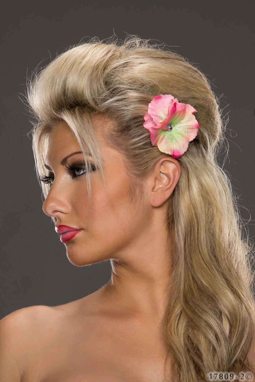 Image of Blumen Haarspange, Rosa
