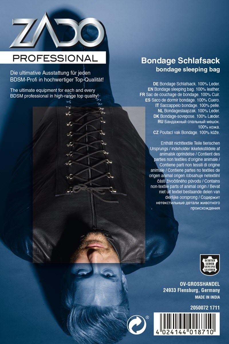 Image of Bondage-Schlafsack, ZADO, Schwarz