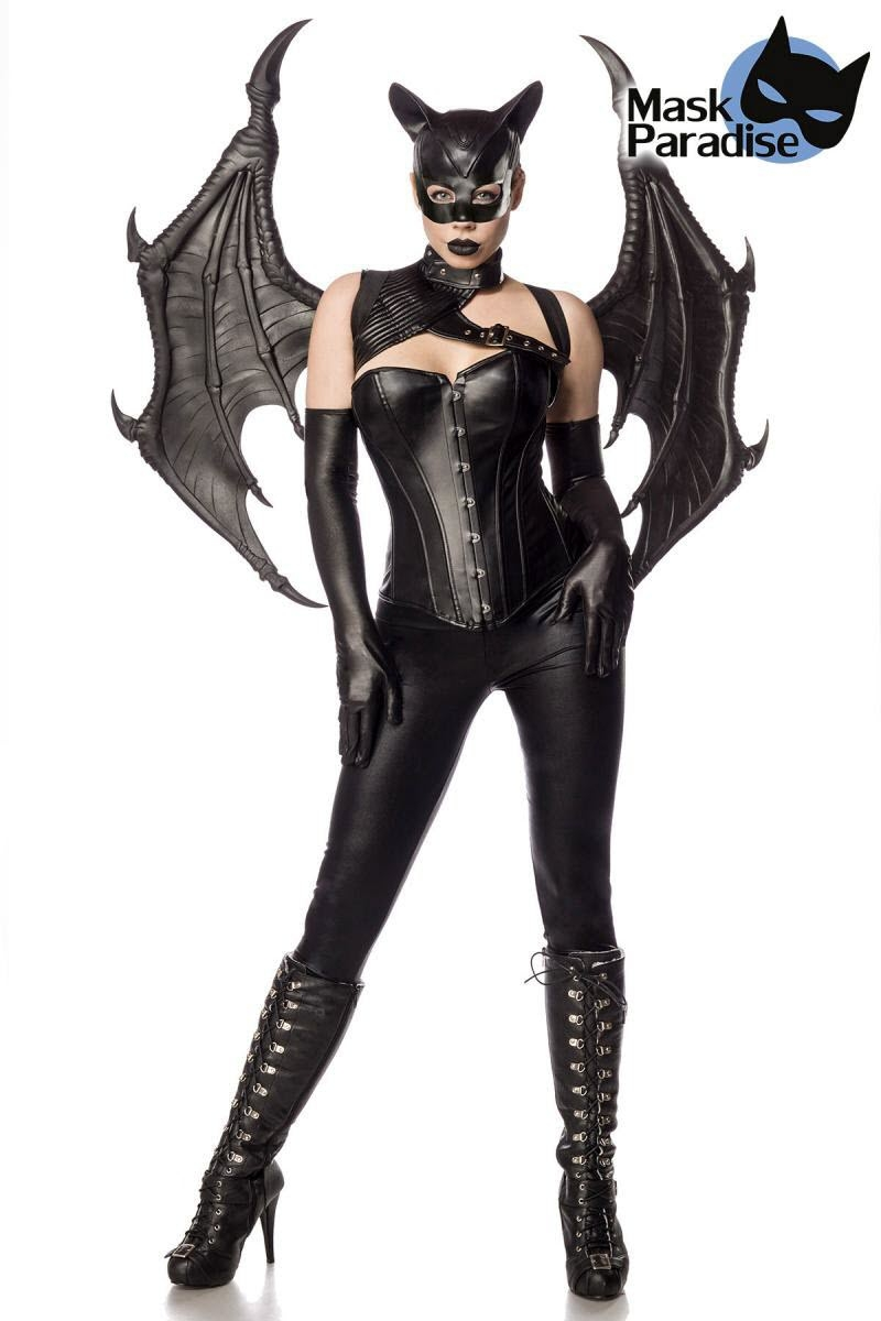 Image of Bat Girl Fighter, Mask Paradise, Schwarz-S