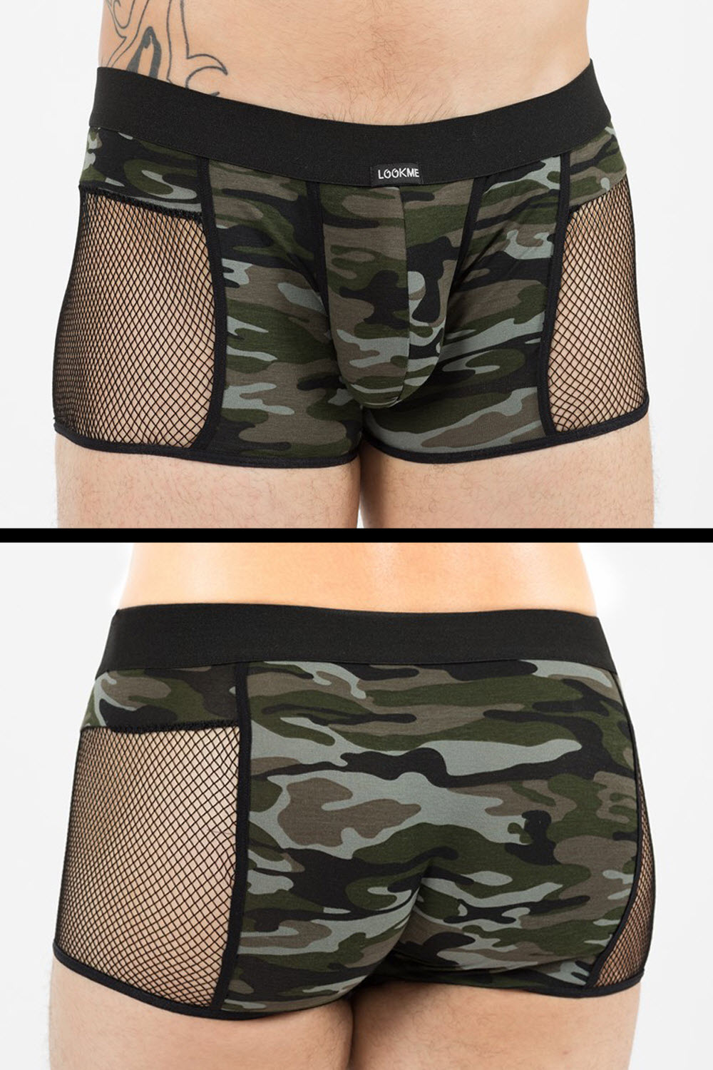 Image of Boxer Shorts, MILITARY, Camouflage-M