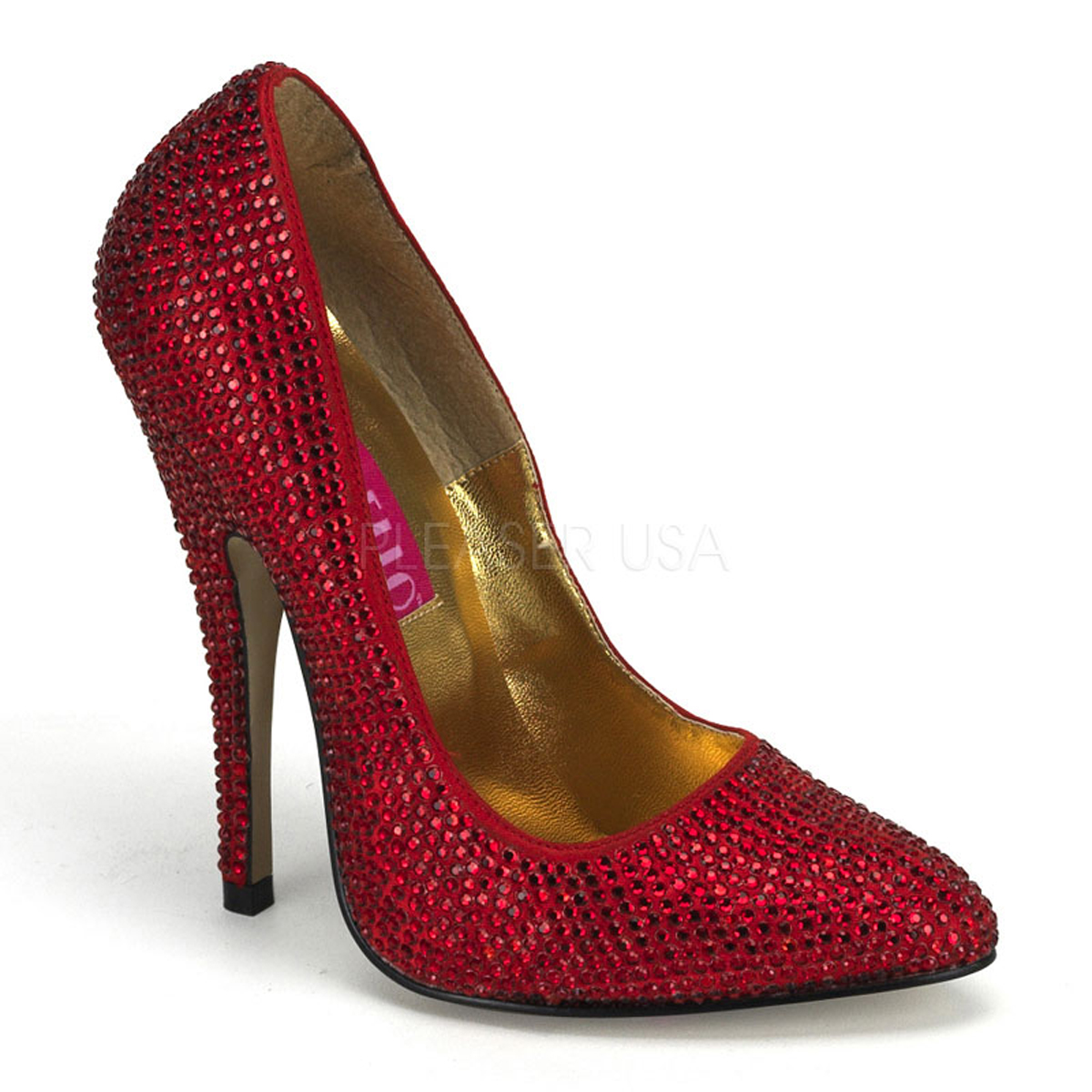 Image of Luxus Strass Pumps, SCANDAL-620R, Bordello, Rot